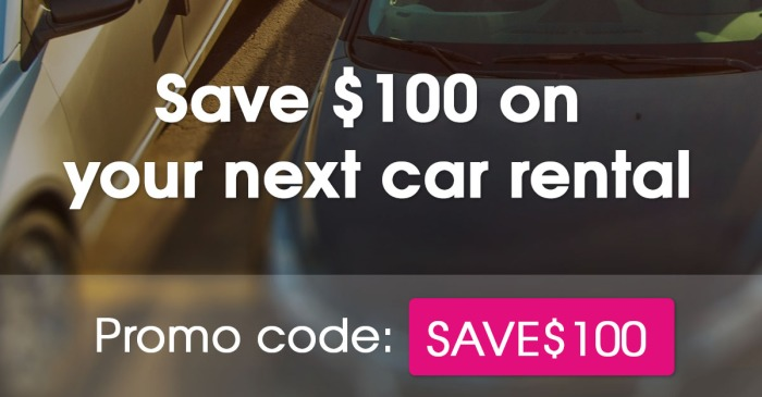 Rent a car from DriveMyCar for 30 days or more and will give you $100 off!